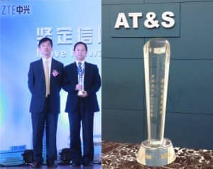 ZTE Vice President Cao Lei, AT&S China Sales Manager Alex Zhang